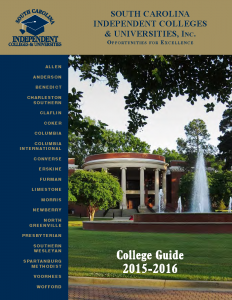 Cover page 2015-2016 SCICU College Guide