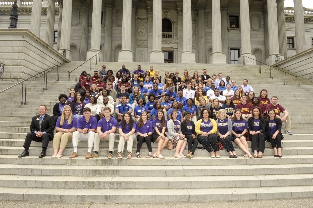 2016 State House Day Student Group on North Steps of State House