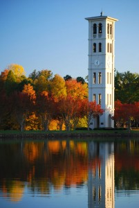 Bell Tower at Furman Lake