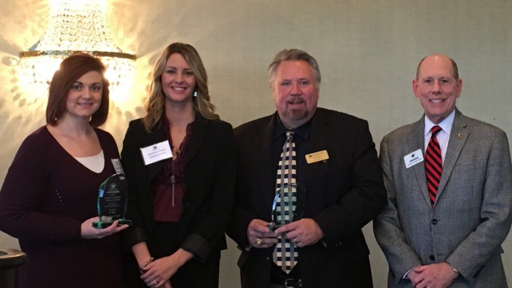 2016 Legislative Letter Writing Campaign Winners  (L-R): Erskine College, Highest % (Lee Ann Fortner, Michelle Lodato); Anderson University, Most Letters Written (Barry Ray); SCICU  President & CEO Mike LeFever