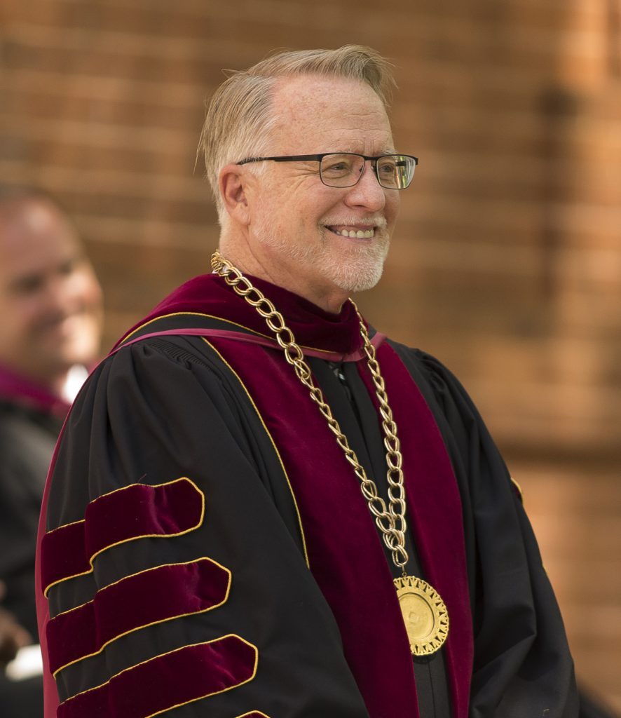 Gustafson at Erskine's 2017 Commencement