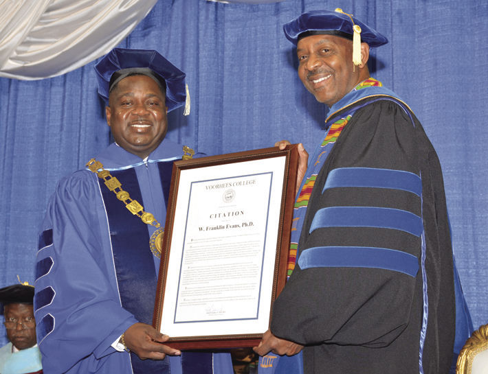 Dr. W. Franklin Evans was installed as 9th President of Voorhees College on April 7, 2017.