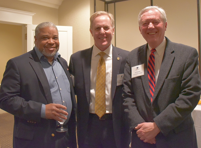 Jerry Cheatham, SCICU board chair-elect; Russell Cook, SCICU board chair; and Jim Reynolds, SCICU past board chair.