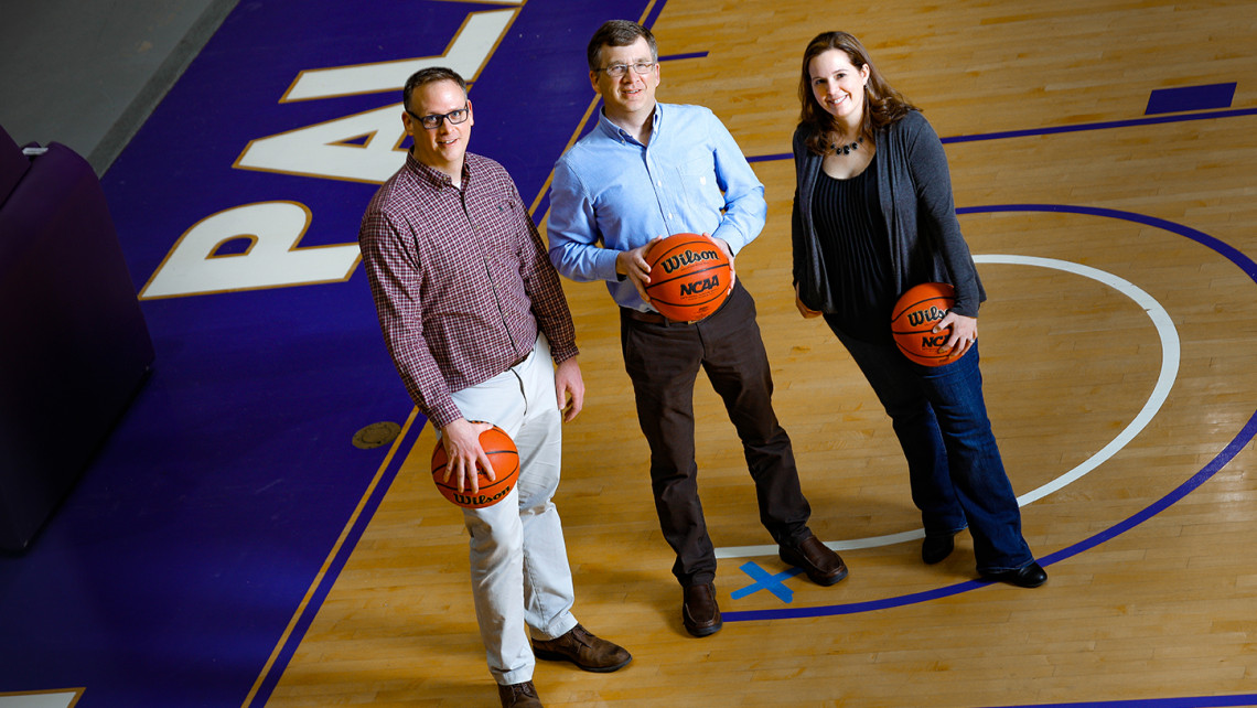 Furman math professors unveil latest model designed to predict NCAA tourney upsets.