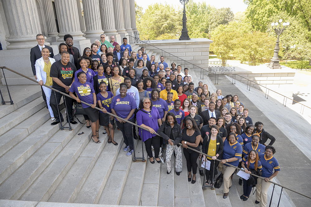 SCICU students celebrated their record-breaking legislative letter-writing campaign at 2019 State House Day. Tuition grant recipients attending SCICU colleges and universities wrote more than 9,000 letters to SC General Assembly members.